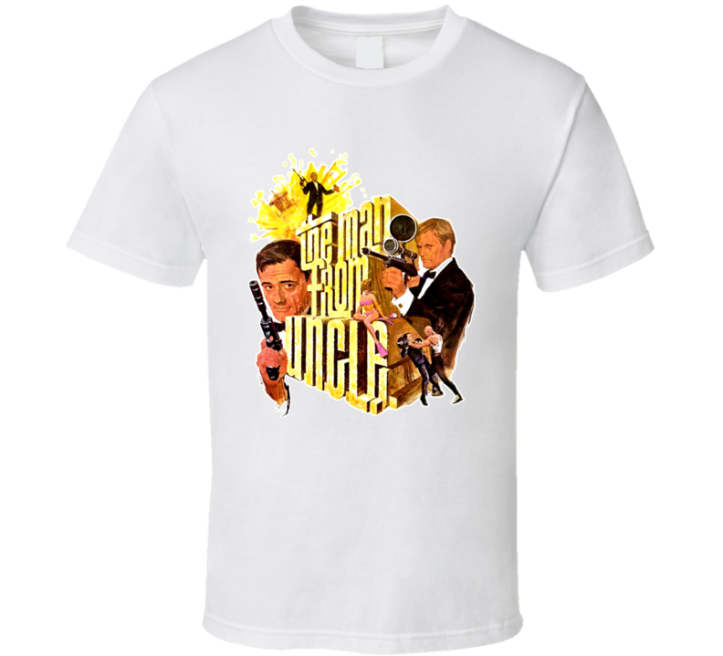 The Man From Uncle David McCallum Robert Vaughn 60s Tv T Shirt