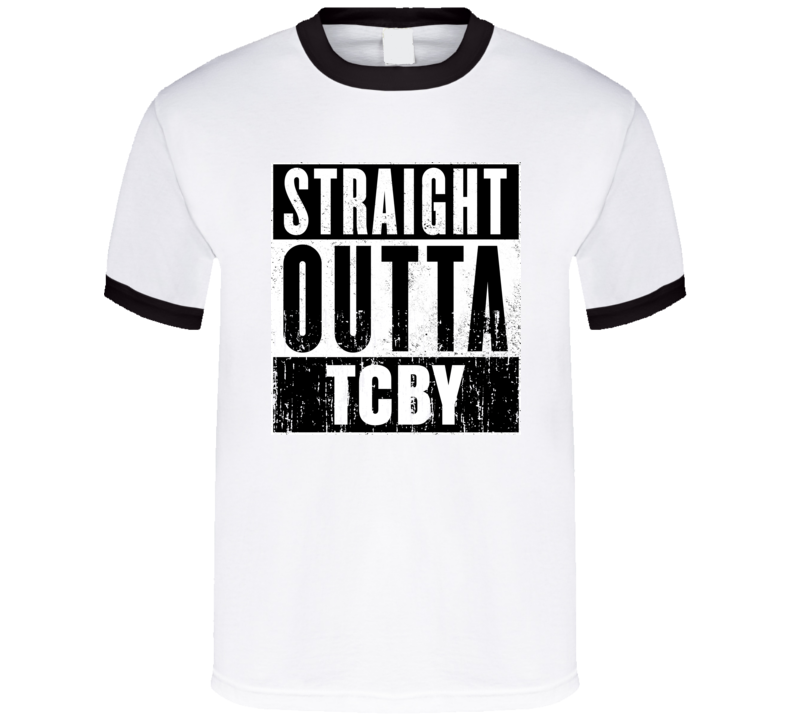 Straight Outta TCBY Movie and Fast Food Parody T Shirt