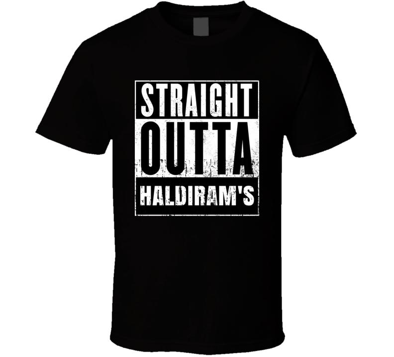 Straight Outta Haldiram's Movie and Fast Food Parody T Shirt