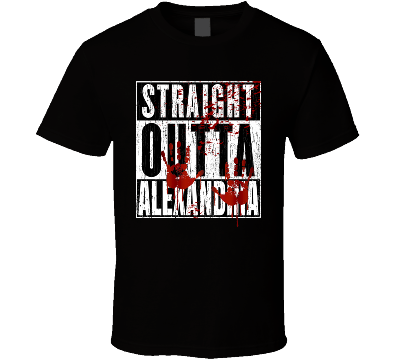 Straight Outta Alexandria TWD TV Movie Zombie Parody T Shirt