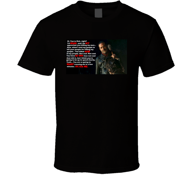 Rick meets Negan The Walking Dead TV SHow Cult Classic Horror T shirt
