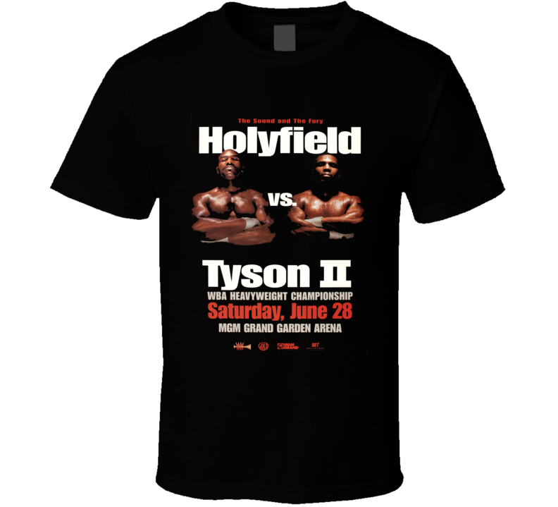 Holyfield vs Tyson 2 Boxing Classic Vintage Sports T shirt