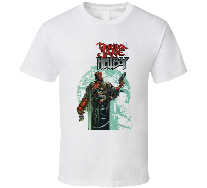 Hellboy And Painkiller Jane T Shirt