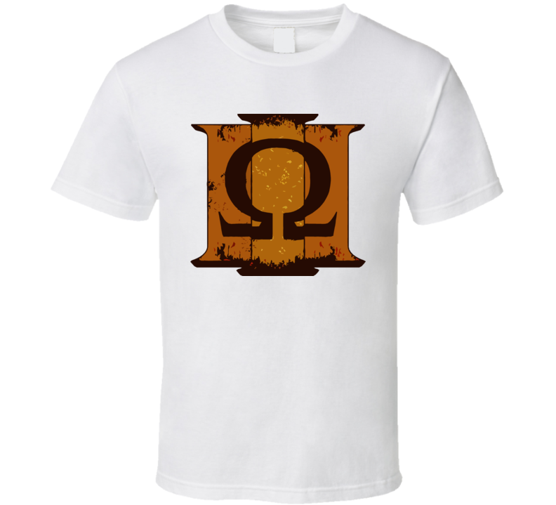 Kratos God of War logo video game t shirt