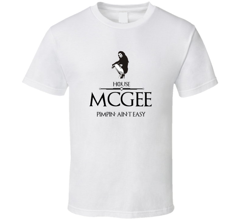 Game Of Thrones Pimp Sigil House Mcgee Cult Classic Tv Show T Shirt