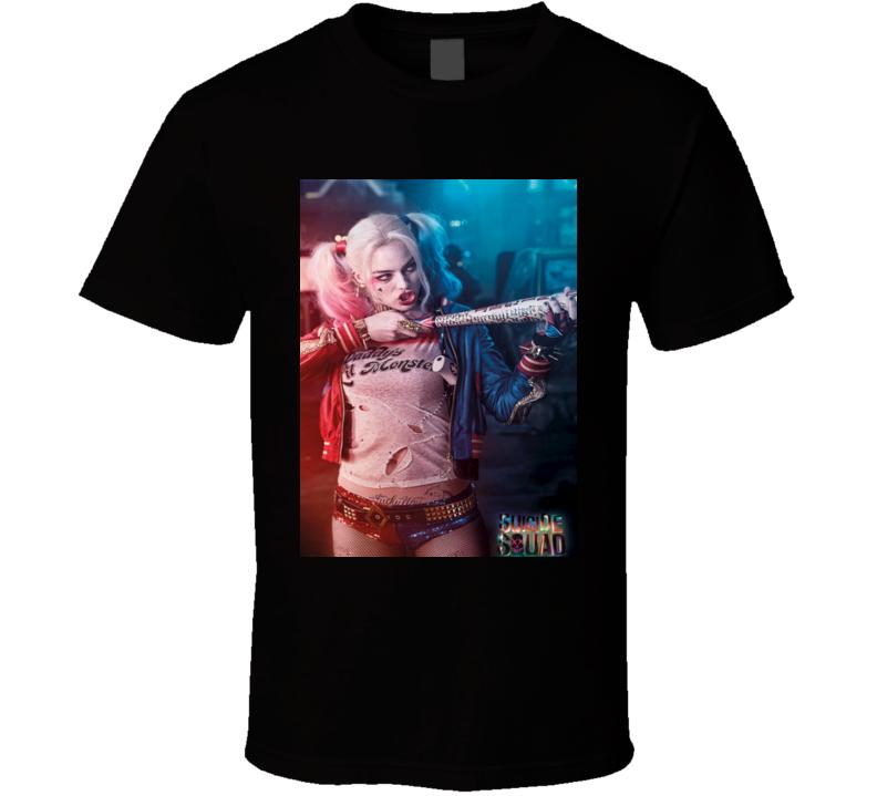 Harley Quinn Bang! Margot Robbie Suicide Squad Superhero Comic MovieT shirt