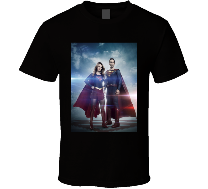 Supergirl TV Show Super Cousins Comic Cult Classic Tshirt