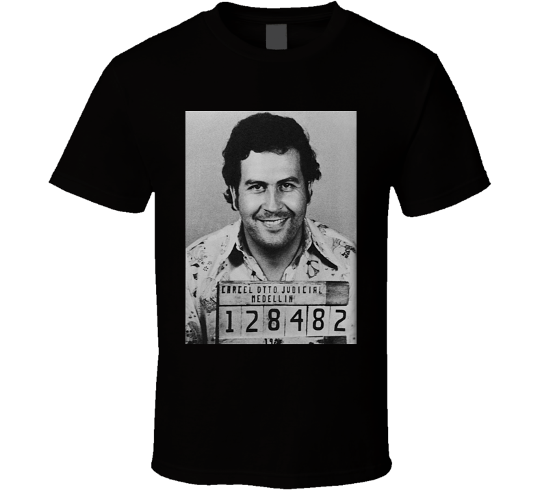 Narcos Pablo Escobar Mugshot Crime TV Show Tshirt