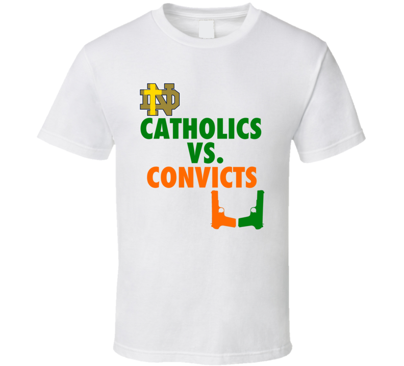 Catholics vs Convicts Holy Cross Against Guns College Football T shirt