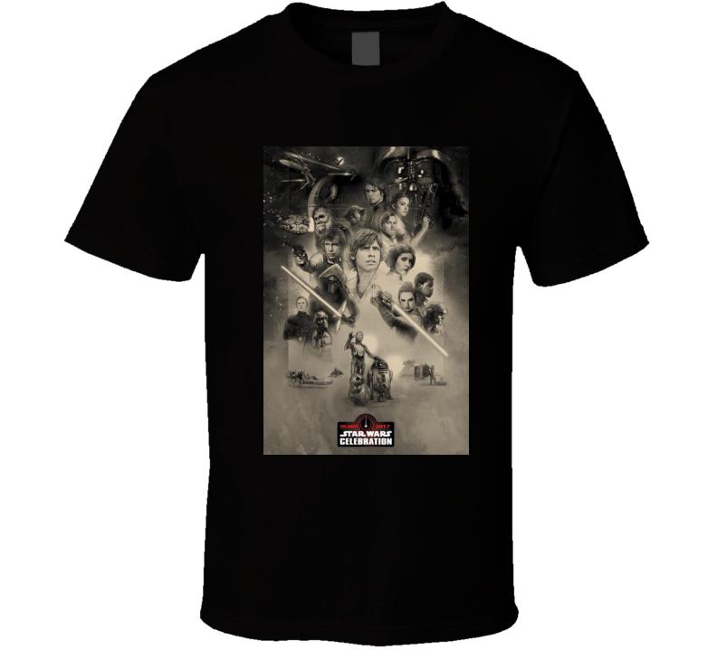Star Wars 40th Anniversary Movie Poster Sci FI Cult Classic T shirt
