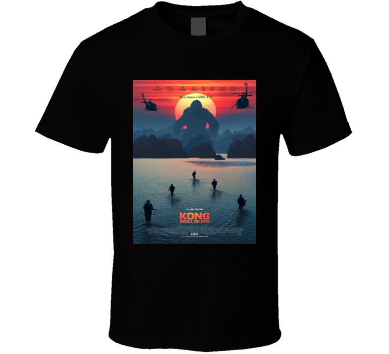 Kong Skull Island Action Adventure Movie T shirt