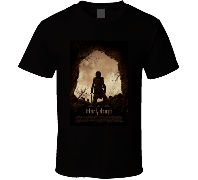 Black Death Cool Horror Movie Poster Fan T Shirt
