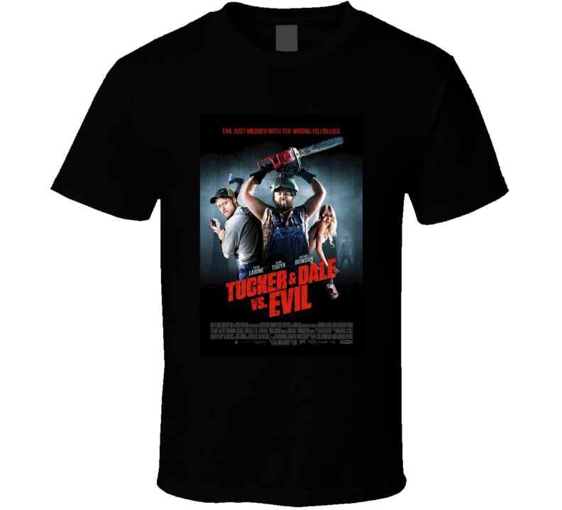 Tucker and Dale vs Evil Cool Horror Movie Poster Fan T Shirt