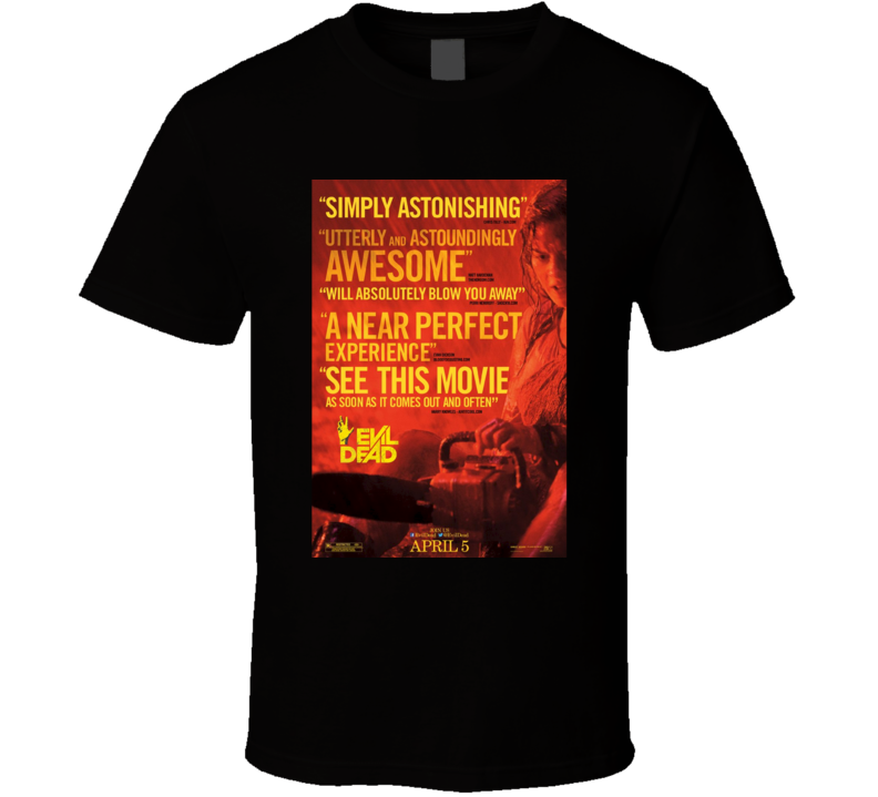 The Evil Dead Cool Horror Movie Poster Fan T Shirt