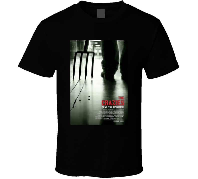 The Crazies Cool Horror Cult Classic Movie Poster Fan T Shirt