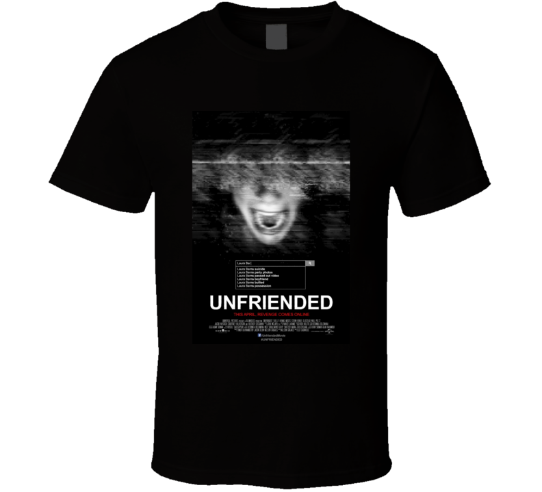 Unfriended Cool Horror Cult Classic Movie Poster Fan T Shirt