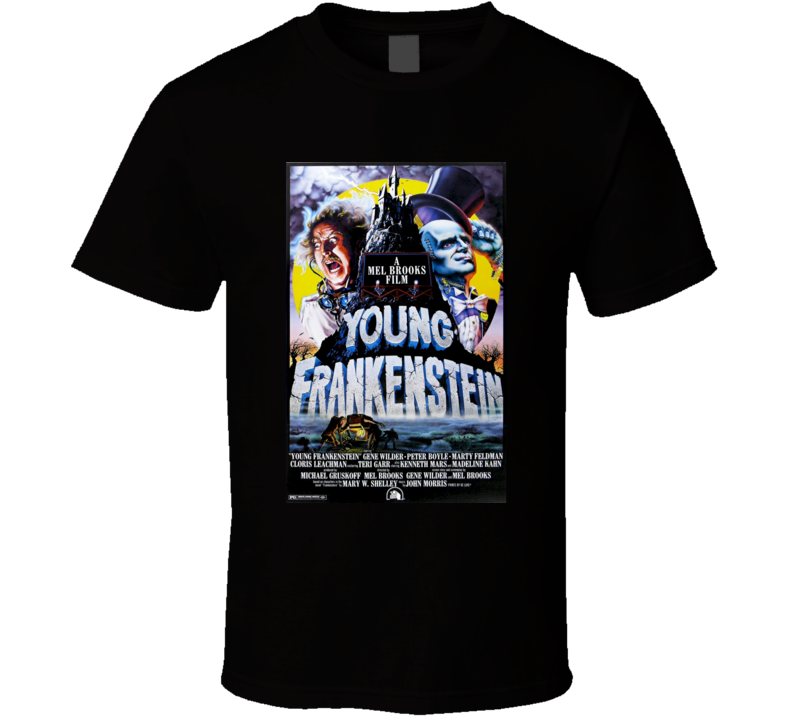 Young Frankenstein Cool 70's Comedy Vintage Classic Movie Poster Fan T Shirt
