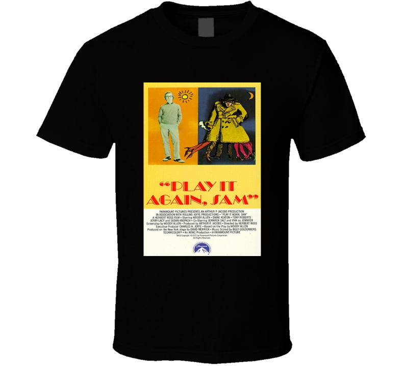 Play It Again,Sam Cool 70's Comedy Vintage Classic Movie Poster Fan T Shirt