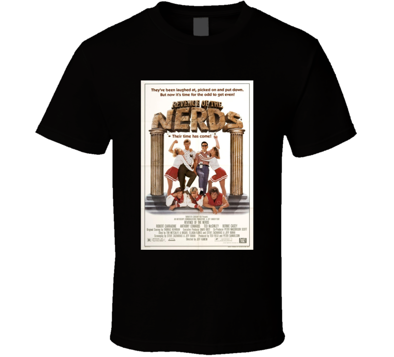 Revenge if the Nerds Cool 80's Comedy Vintage Classic Movie Poster Fan T Shirt