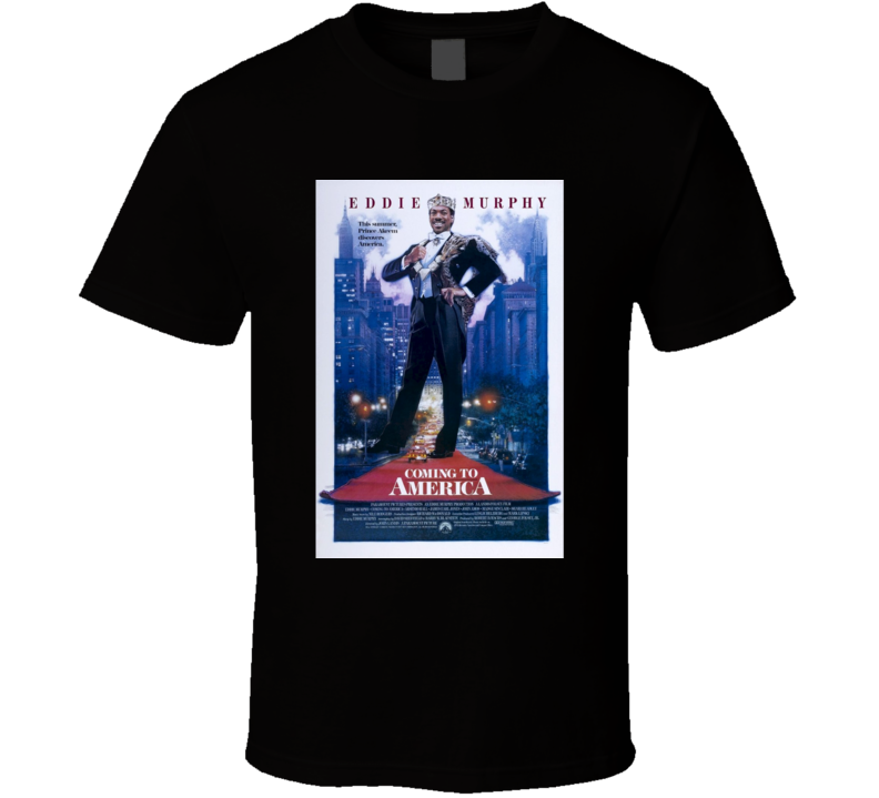 Coming To America Cool 80's Comedy Vintage Classic Movie Poster Fan T Shirt