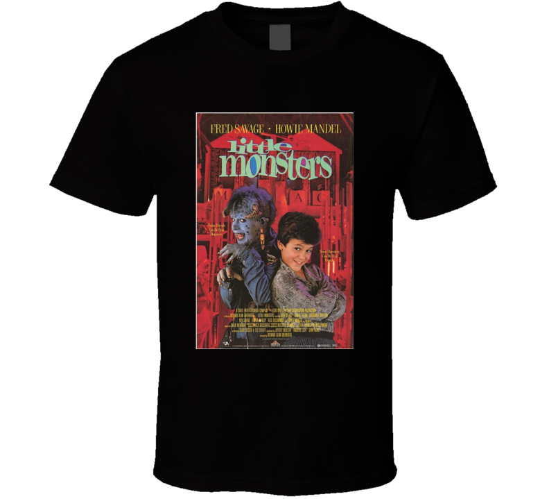 Little Monsters Cool 80's Comedy Vintage Classic Movie Poster Fan T Shirt