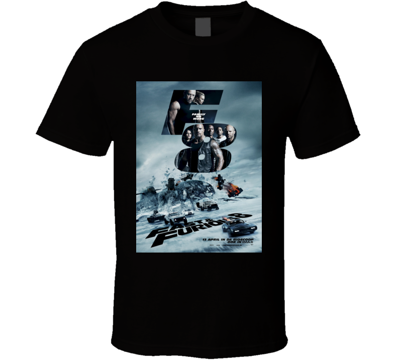 F8 Fate of the Furious 8 Action Adventure Movie T shirt