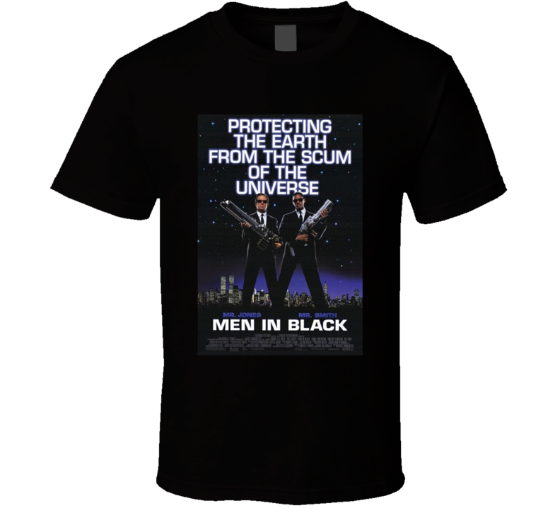Men In Black Cool 90's Comedy Vintage Classic Movie Poster Fan T Shirt