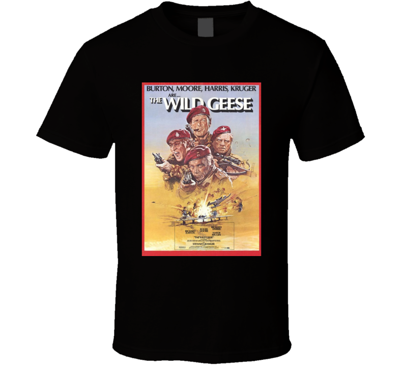 The Wild GeeseCool 70's Vintage Classic Action Movie Poster Fan T Shirt