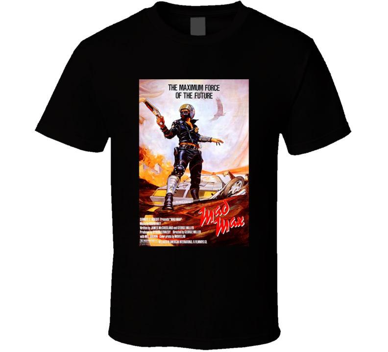 Mad Max Cool 70's Vintage Classic Action Movie Poster Fan T Shirt