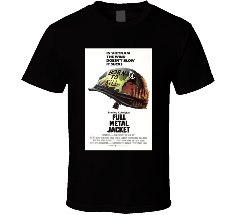 Full Metal Jacket Cool 80's Vintage Classic Action Movie Poster Fan T Shirt