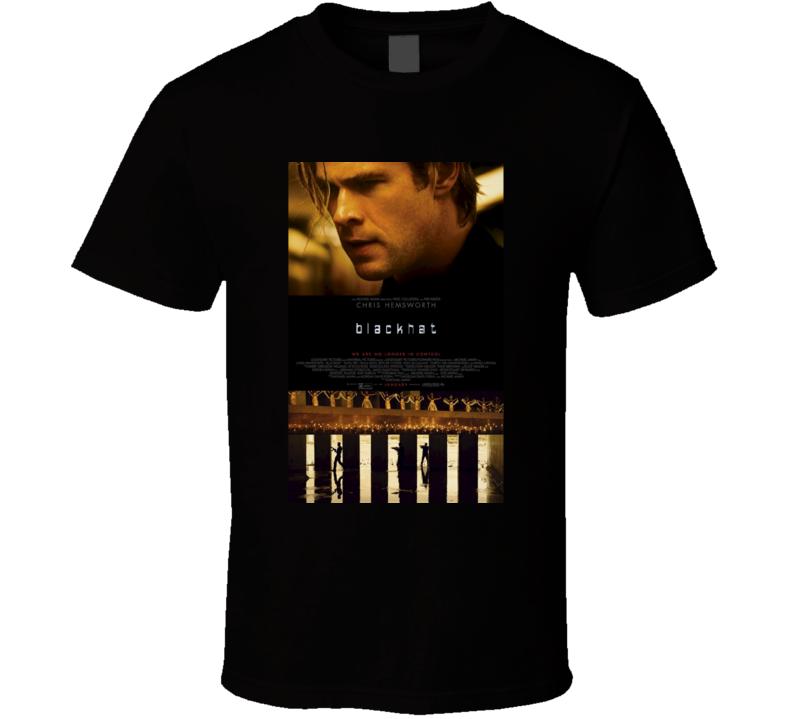 Blackhat Cool 21st Century Classic Action Movie Poster Fan T Shirt