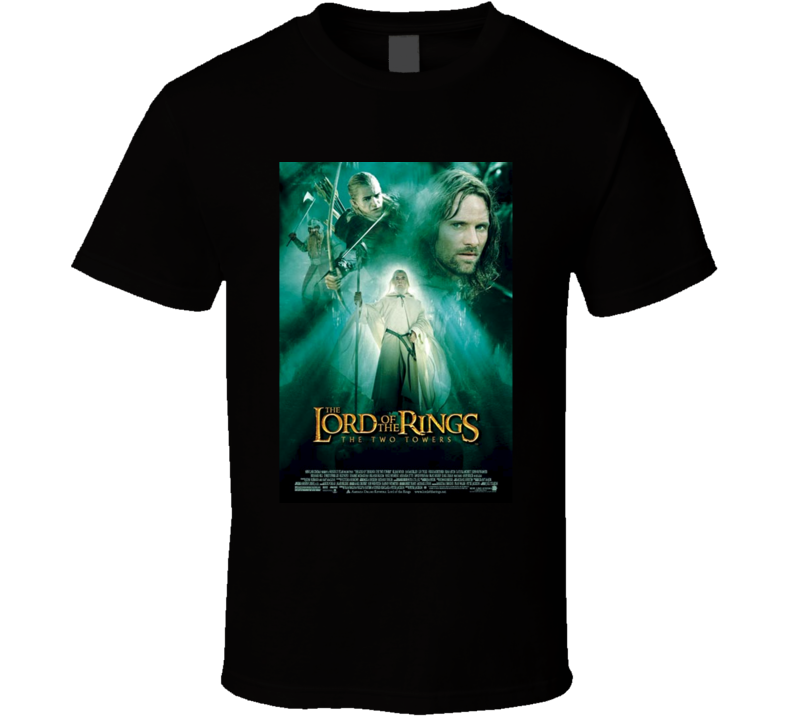 The Lord Of The Rings The Two Towers Cool 21st Century Classic Action Movie Poster Fan T Shirt