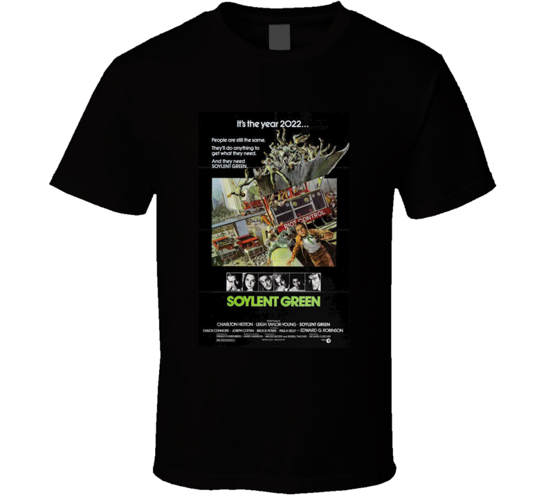 Soylent Green Cool 70's Vintage Classic Sci-Fi Movie Poster Fan T Shirt