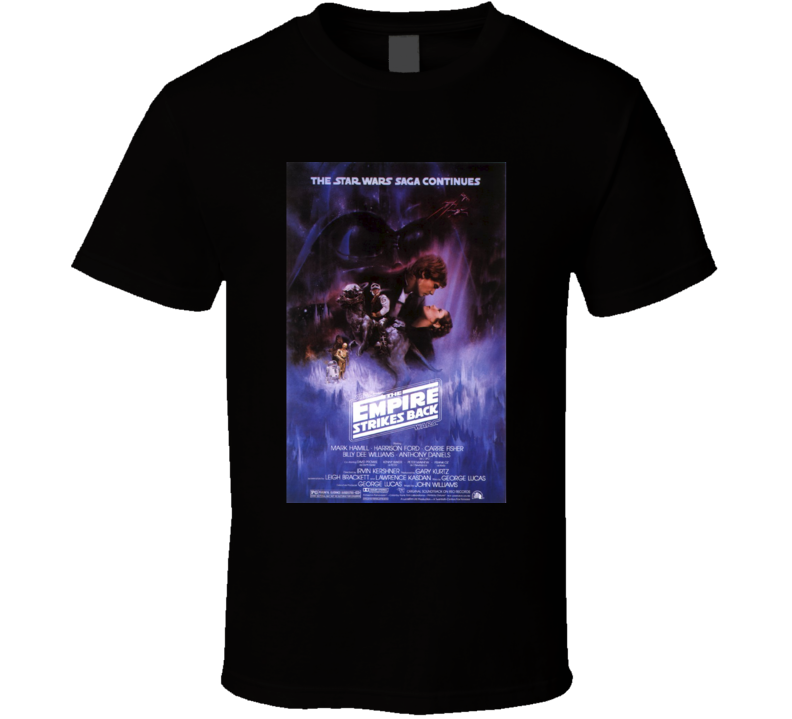 The Empire Strikes Back Cool 80's Vintage Classic Sci-Fi Movie Poster Fan T Shirt