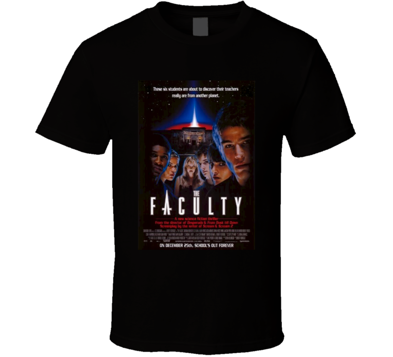 The Faculty Cool 90's Vintage Classic Sci-Fi Movie Poster Fan T Shirt