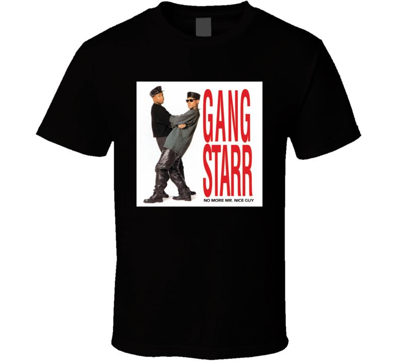 Gang Starr No More Mr. Nice Guy 80's Hip Hop Album Cool Retro T Shirt