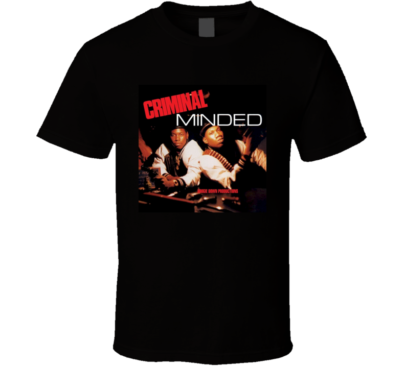 Boogie Down Productions Criminal Minded 80's Hip Hop Album Cool Retro T Shirt