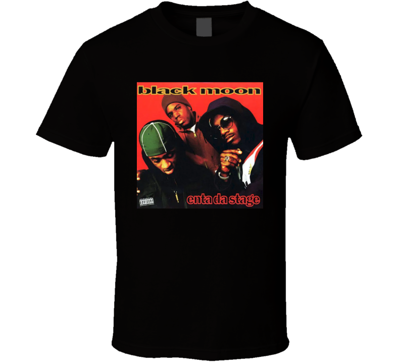 Black Moon Enta Da Stage 90's Hip Hop Album Cool Retro T Shirt