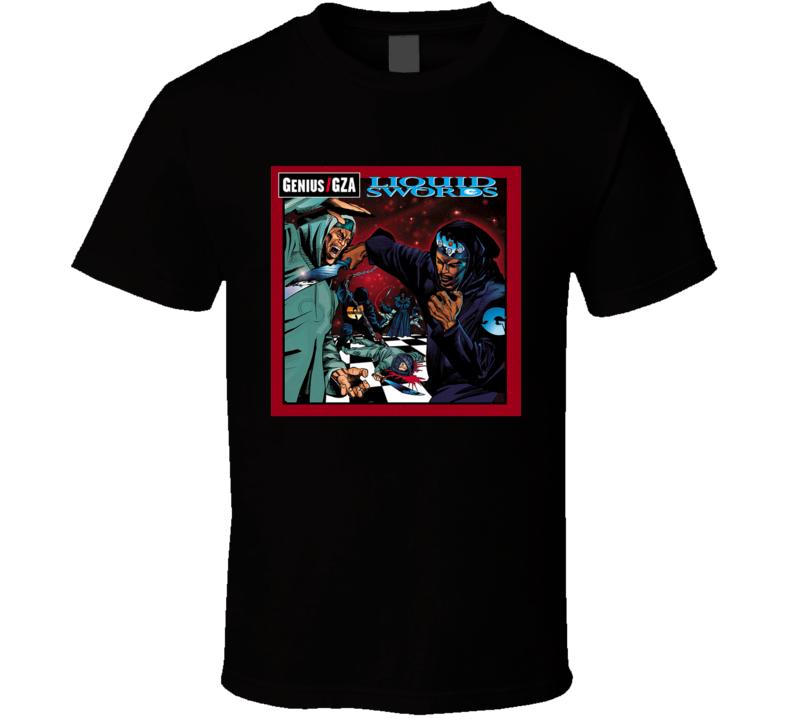 GZA Liquid Swords 90's Hip Hop Album Cool Retro T Shirt