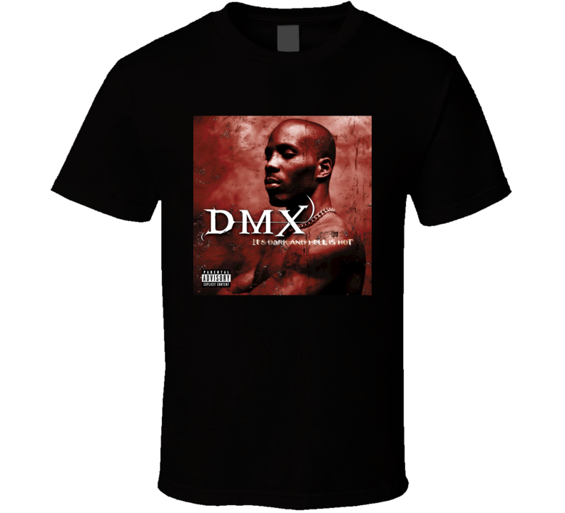 DMX It's Dark And Hell Is Hot 90's Hip Hop Album Cool Retro T Shirt