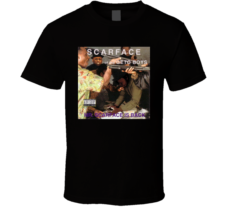Scarface Mr Scarface Is Back 90's Hip Hop Album Cool Retro T Shirt