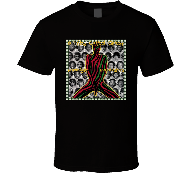 A Tribe Called Quest Midnight Marauders 90's Hip Hop Album Cool Retro T Shirt