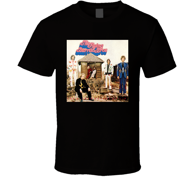 The Flying Burrito Brothers The Gilded Palace Of Sin Vintage 60's Rock Album Cool Classic  Fan T Shirt