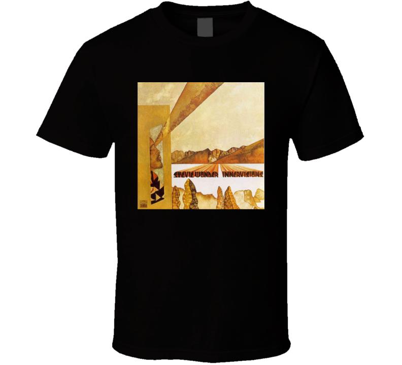Stevie Wonder Innervisions Vintage 70's Rock Album Cool Classic  Fan T Shirt