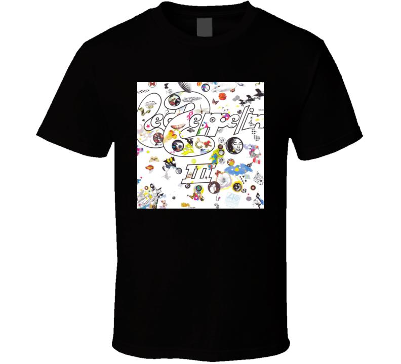 Led Zeppelin Led Zeppelin III Vintage 70's Rock Album Cool Classic  Fan T Shirt