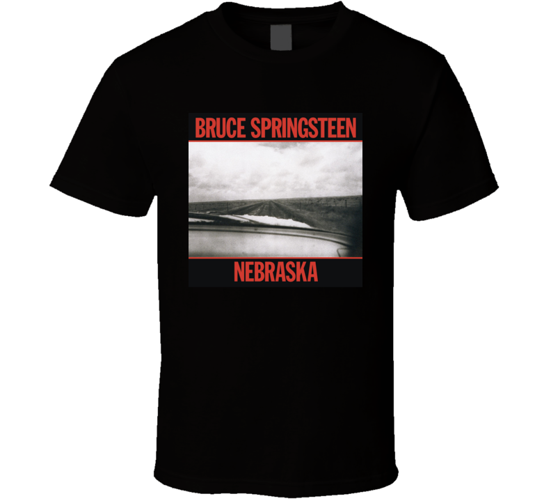 Bruce Springsteen Nebraska Vintage 80's Rock Album Cool Classic  Fan T Shirt
