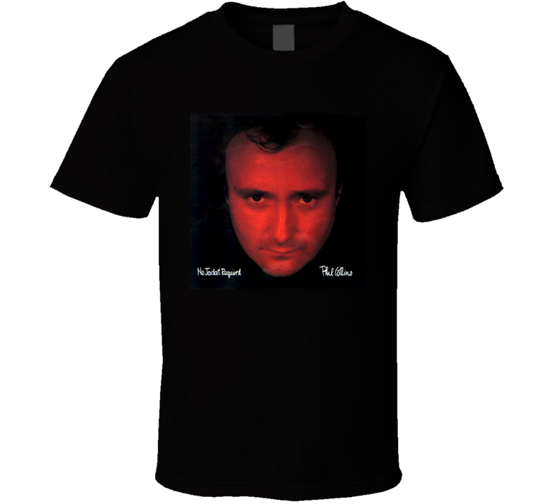 Phil Collins No Jacket Required Vintage 80's Rock Album Cool Classic  Fan T Shirt