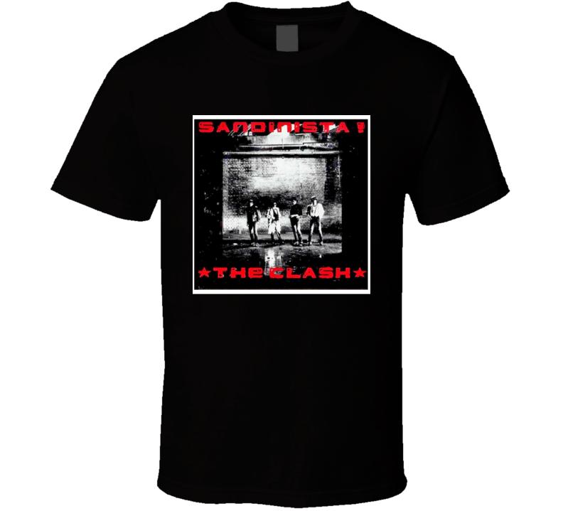 The Clash Sandinista Vintage 80's Rock Album Cool Classic  Fan T Shirt