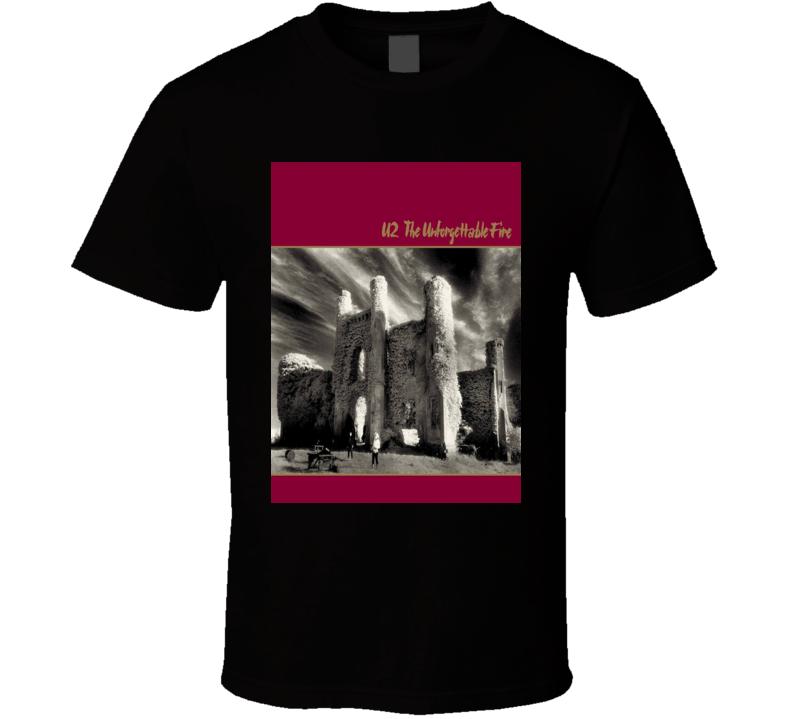 U2 The Unforgettable Fire Vintage 80's Rock Album Cool Classic  Fan T Shirt