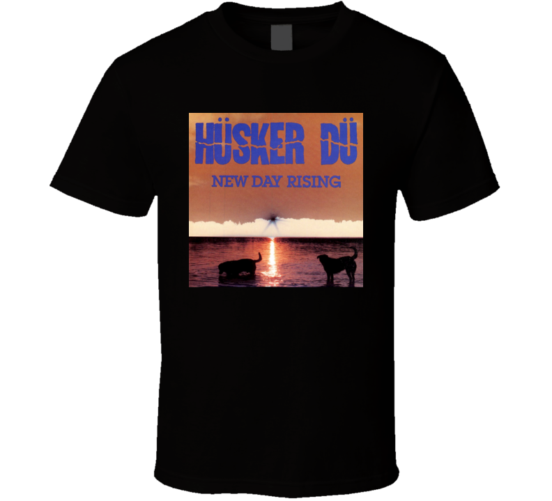 Husker Du New Day Rising Vintage 80's Rock Album Cool Classic  Fan T Shirt